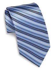 English Laundry Striped Silk Tie Light Blue