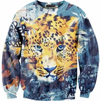 Aloha From Deer Leopard Sweater Blue