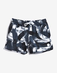 Native Youth Paintbrush Swim White Black