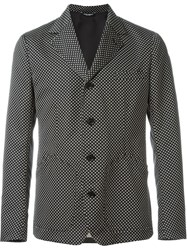 Dolce And Gabbana Jacquard Tie Blazer Black