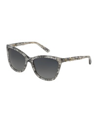 Dandg D And G Polarized Acetate Cat Eye Sunglasses Gray Marble