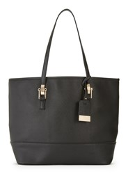 Miss Selfridge Scratchy Pu Tote Black