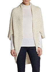 Saks Fifth Avenue Blue Bubble Knit Cocoon Cardigan Natural