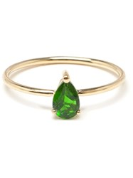 Ileana Makri Chrome Diopside Yellow Gold Ring Green