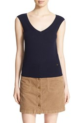 Tory Burch Women's 'Seine' V Neck Merino Wool Sweater