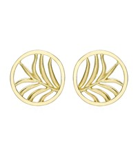 Theo Fennell Large Palm Diamond Disc Earrings Female