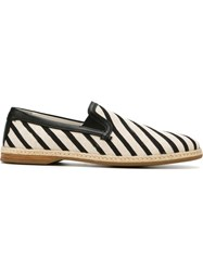 Dolce And Gabbana Striped Boat Shoes Black