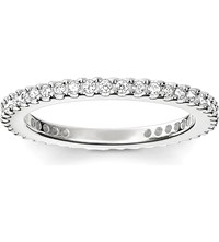 Thomas Sabo Glam And Soul Sterling Silver And Pave Zirconia Midi Eternity Ring