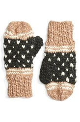 Collection Xiix Women's 'Americana Pom' Knit Mittens Travertine