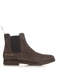 Common Projects Suede Chelsea Boots Black