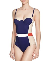 Tory Burch Lipsi One Piece Swimsuit 100 Bloomingdale's Exclusive Blue Multi