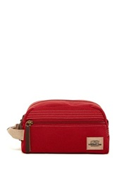 Timberland Canvas With Patch Travel Kit Red