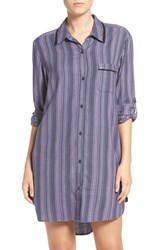 Dkny Women's 'Boyfriend' Print Sleep Shirt Anchor Stripe