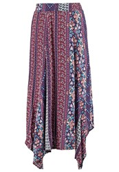 All About Eve Faithful Maxi Skirt Purple Turquoise