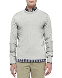 Michael Kors Cashmere Raw Seam Sweater Grey