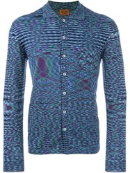 Missoni Striped Long Sleeve Shirt Blue