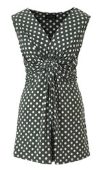 Grace Made In Britain Polka Tunic Top Green