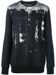 Helmut Lang Printed Crew Neck Sweater Black