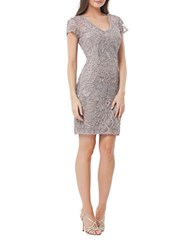 Js Collections Swirl Applique Cocktail Dress Dusty Lavender