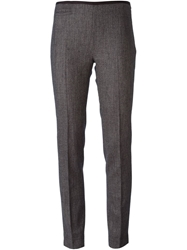 Incotex Tweed Cropped Trousers Blue