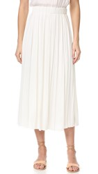 Elizabeth And James Quinn Pleated Skirt Ivory