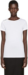 Versus White Ribbed T Shirt
