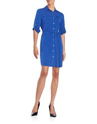 Calvin Klein Button Front Shirt Dress Atlantis