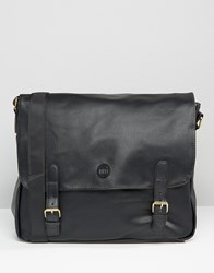 Mi Pac Tumbled Leather Look Satchel Black