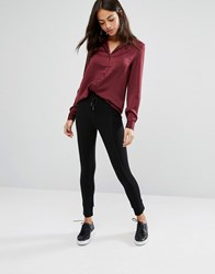 New Look Tie Waist Legging Black