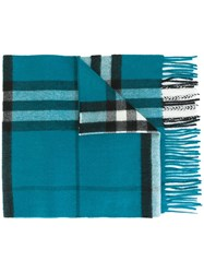 Burberry Giant Check Scarf Blue