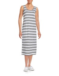 Bench Striped Expert Dress Grey White