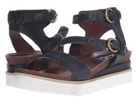 Miz Mooz Priam Black Women's Sandals