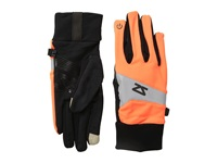 Zensah Reflect Running Gloves Neon Orange Liner Gloves