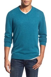 1901 Melange Knit Merino Wool And Cashmere Sweater Blue