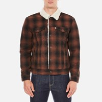 Levi's Men's Type 3 Sherpa Trucker Jacket Mastic Burnt