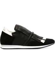 Philippe Model Fringed Sneakers Black