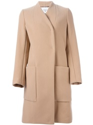 Dondup Double Breasted Coat Nude And Neutrals