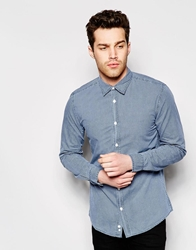 United Colors Of Benetton Long Sleeve Shirt With All Over Print Navy901