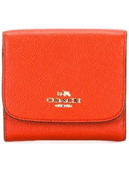 Coach Flap Wallet Yellow Orange