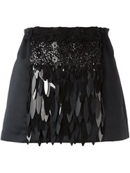 N 21 No21 Sequin Embellished Skirt Black