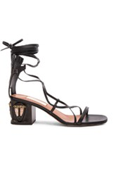 Valentino Tribe Gladiator Leather Heeled Sandals In Black
