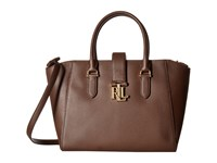 Lauren Ralph Lauren Carrington Bethany Shopper Burnished Brown Handbags