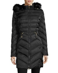 Laundry By Shelli Segal Diamond Quilted Down Coat Black