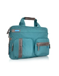 Piquadro Nimble Front Pockets Briefcase Blue