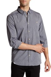 Wesc Ivan Long Sleeve Slim Fit Shirt Blue