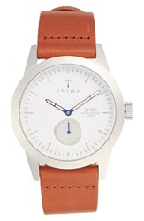 Triwa 'Spira' Leather Strap Watch 38Mm