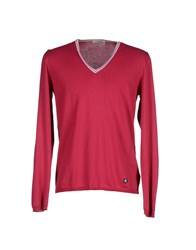 M.Grifoni Denim Knitwear Jumpers Men Garnet