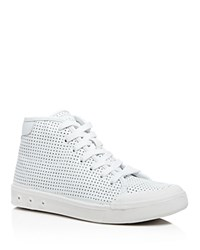 Rag And Bone Rag And Bone Perforated High Top Lace Up Sneakers White