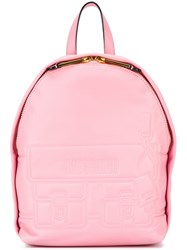 Moschino Satchel Effect Backpack Pink Purple