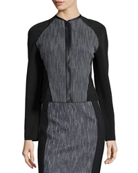 Elie Tahari Sydney Tweed Zip Front Jacket